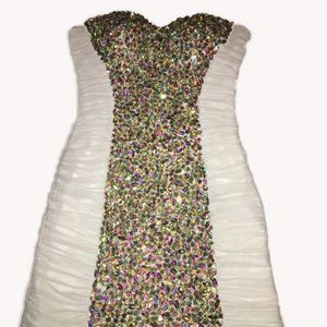 Short Bling Bling party dress